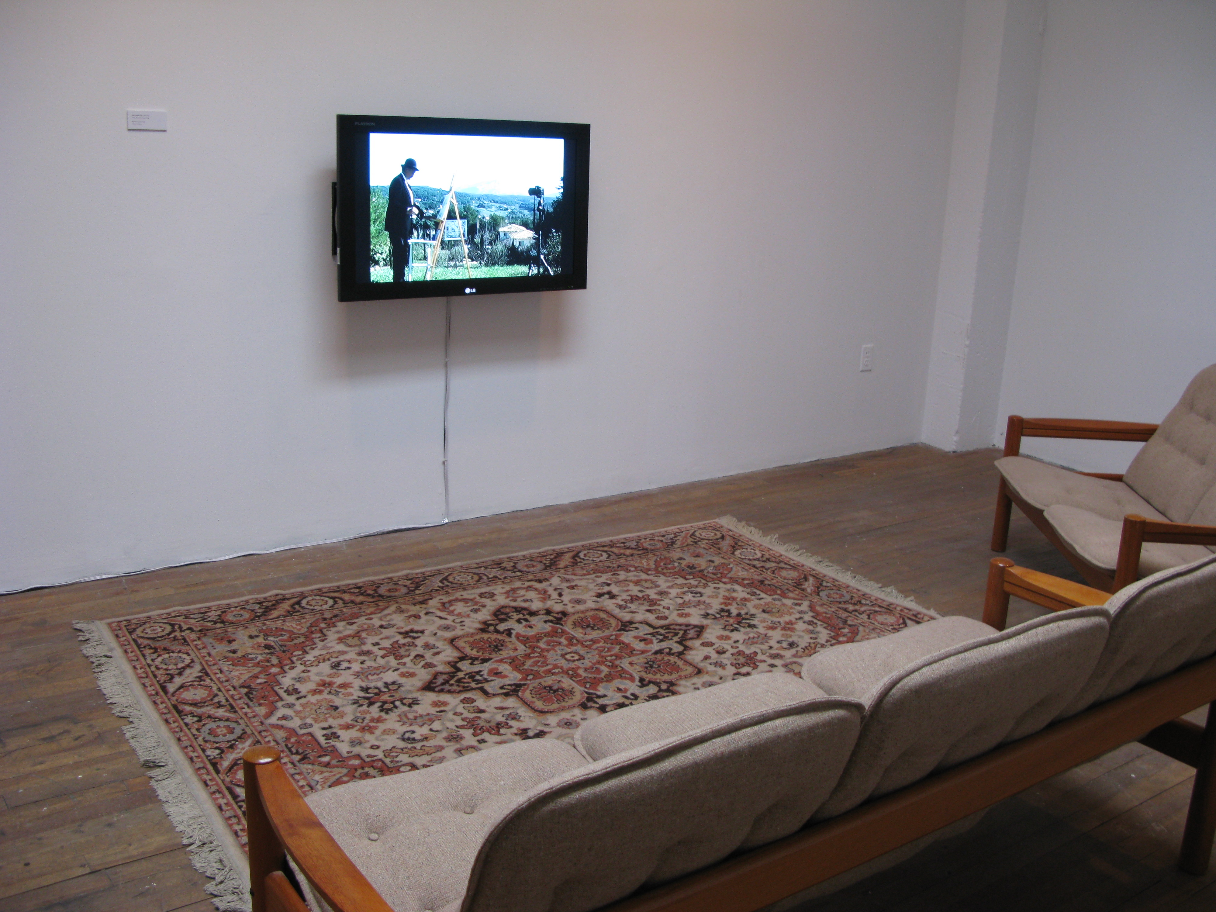 Cézanne's Eyes and Hands: Purloined (video installation), 2009 - Oboro Gallery