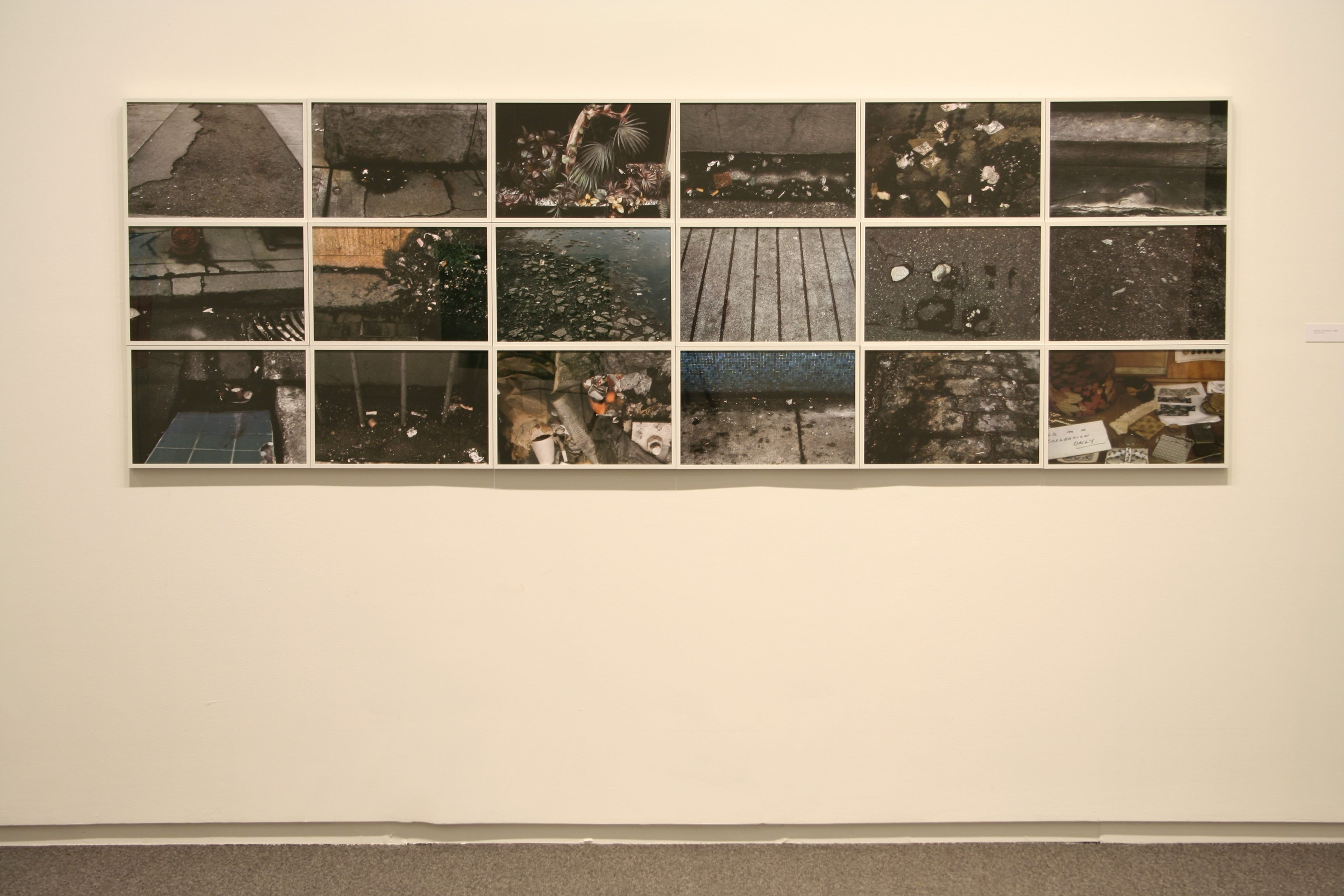 Details of City Block Photos, 1968   Flakey: Early Works of Glenn Lewis 1965 – 1972   Presentation House Gallery 2010