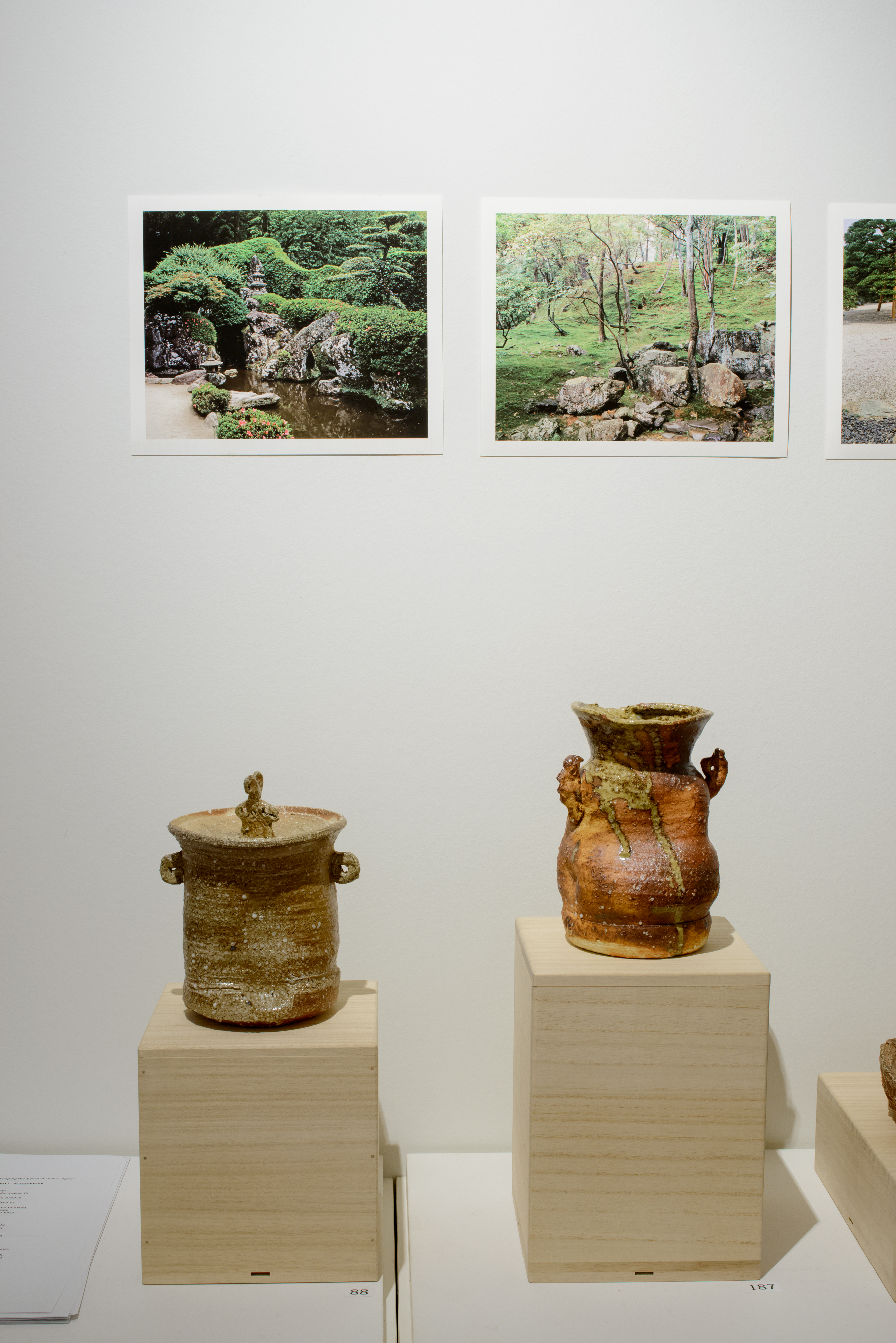 Pottery and Japanese Garden Images: Shaping the Bernard Leach Legacy (gallery view 2) | 2015 Wakayama Museum, Ginza, Tokyo
